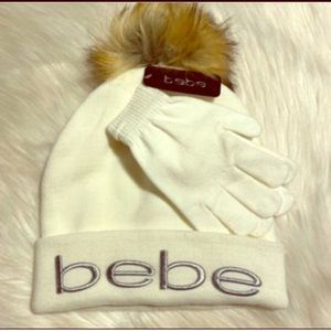 BEBE Hat With Gloves